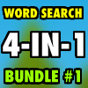 Word Search Bundle #1 4-in-1